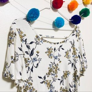 FLORAL MAURICE'S TEE - SZ MED